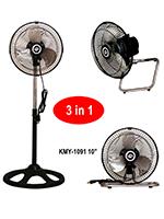 """KMY-1091 10"""" Three in One Fan"""