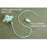 FP-49 Speed Switch For Wall Fan, Pull String And Pull Ring