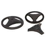 FP-63B Plastic Round Base with Extra Weight (3 Spokes)