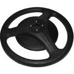 FP-63 Plastic Round Base with Extra Weight (3 Spokes) Diameter: 52cm, Weight: 1 kg, Extra Weight: 3 kgs